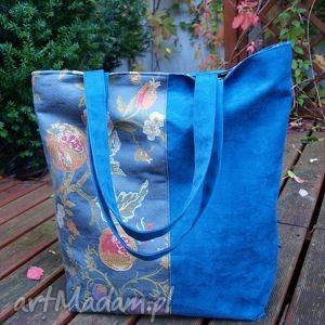 żakard z niebieskim, pakowna, miejska, alcantara, autorska, jesienna