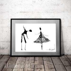 Grafika 101 - zaproszenie do tańca maja gajewska domu, taniec