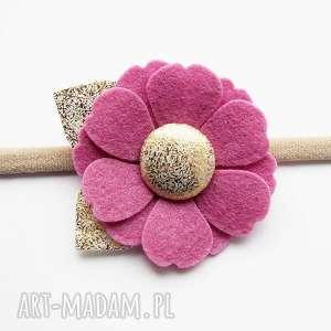 momilio art opaska do włosów kwiatek kolekcja roma, opaska, elastyczna