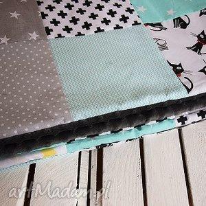ręcznie wykonane pokoik dziecka kocyk, narzuta patchwork 75x130