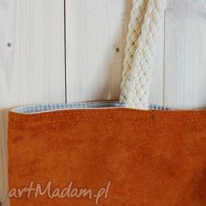 wyjątkowy prezent, torba z eco-zamszu, torba, ecozamsz, ruda, zakupy, miejska