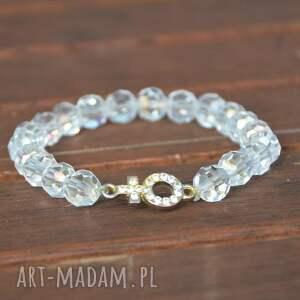Bracelet by SIS: Przezroczyste kryształy z cyrkoniowym znakiem, kobieta, cyrkonie