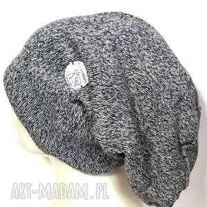 czapka damska męska unisex niebieski melanż ciepła, czapka, wełniana, melanż, zimowa