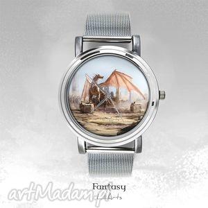 zegarek, bransoletka - smok dragon fantasy watch, bransoletka, zegarek