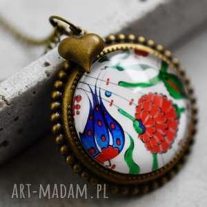 Łańcuszek brązowy ♥ PŁYTKI III ♥ - ,kwiaty,kwiatki,folk,orient,vintage,kolaż,