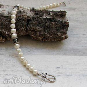 bransoletka z pereł, bransoletka, perły, biżuteria, autorska, prezent, święta