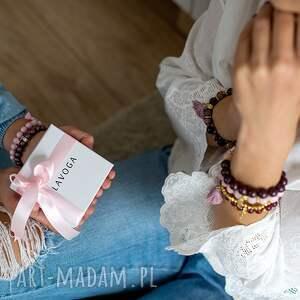 lavoga zestaw bransolet z naturalnych kamieni - boho - perła, prezent