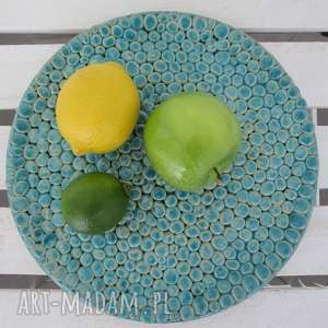 ceramika ana patera z setek kulek, talerz, ceramiczny, patera, ceramiczna