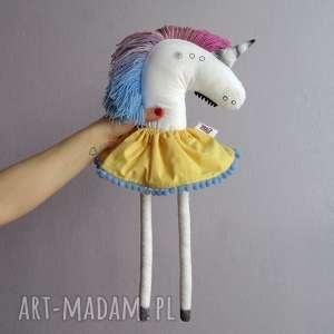 hand-made maskotki jednorożec klaus w spódniczce - na zamówienie