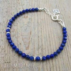 Lapis lazuli - bransoletka , lapis, lazuli, srebro