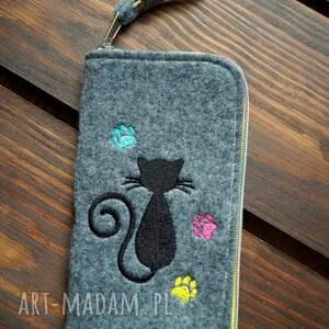 etui filcowe na telefon - kotek, smartfon, pokrowiec, futerał, prezent
