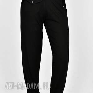 spodnie luźne jola czarne, spodnie, szorty, dres, bluza, bluzka, koszula