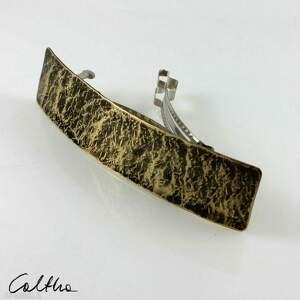 ozdoby do włosów kamień - mosiężna klamra 200613-01, klamra, spinka