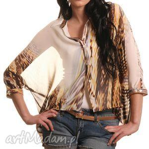 wzorzysta koszula ze zwierzęcym wzorem, koszula, letnia, wzorzysta, lekka, szyfon