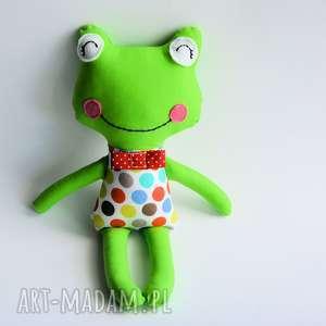 żabka - wersja s fred 35 cm, żabka, chłopczyk, maskotka, chrzciny, roczek