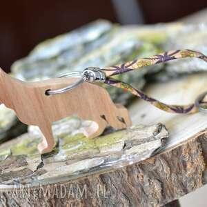 brelok owczarek niemiecki - z drewna i korka flowerby, do kluczy