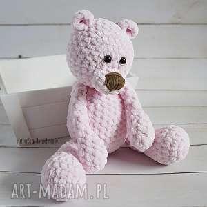 handmade maskotki różowy miś, 101