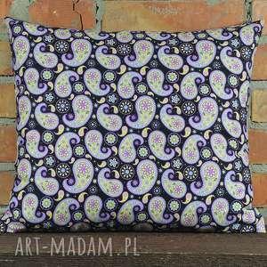 Prezent Poduszka dekoracyjna wzór paisley 40x45cm, bawełna, oryginalna, dekoracja