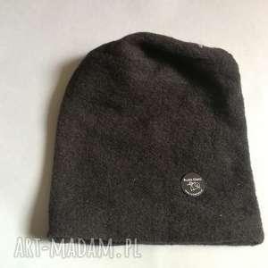 czapka czarna unisex ciepła, czapka, czarna, etno, boho, zima, czapki