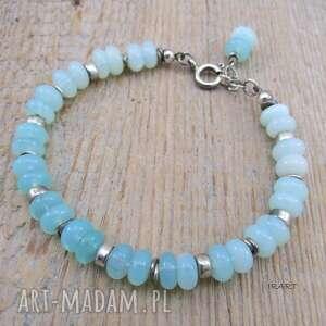 hand-made opal - bransoletka z przekładkami