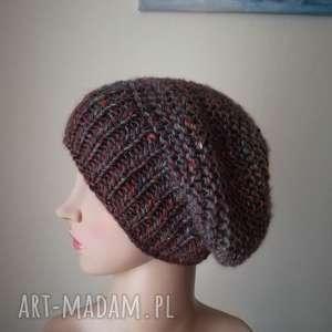 czapki kolory ziemi czapka, rękodzieło, ziemia, prezent, tweed, unikalny