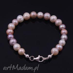 ręcznie robione bransoletki perłowa elegancja, bransoletka z naturalnych pereł