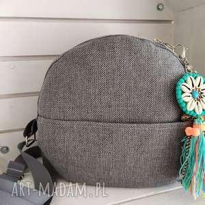 na ramię okrągła torebka szara, torba, torebka, okrągła, okrąglak, listonoszka
