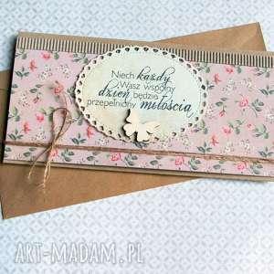 kartka - kopertówka :: romantic roses, ślub