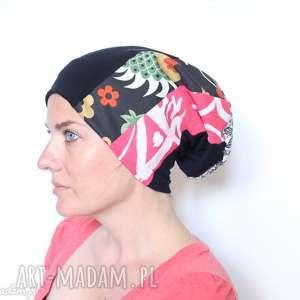 czapki czapka patchworkowa kolorowa damska, czapka, wzory, drukowana