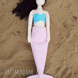 szyje pani lalka syrenka #167, szmacianka, przytulanka, syrenka, bawełniana