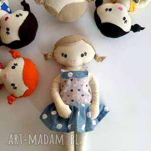mała LALA- blondynka, lala, lalka, szmacianka