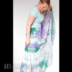 spódnica farbowana ręcznie, spódnica, bawełna, farbowana, wiosna, mama, prezent