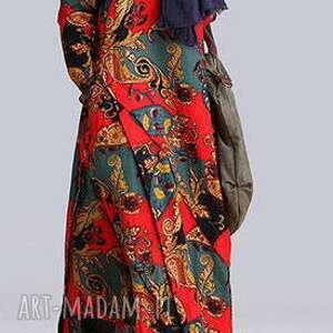 ręcznie robione sukienki sukienka lniana we wzory