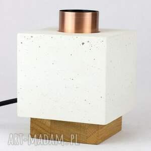 lampa stołowa z betonu architektonicznego, lampa, architektoniczny, beton, loft