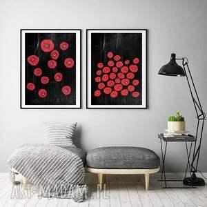 zestaw 2 prac a2, plakat, kwiaty, obraz, sztuka, ilustracja, plakaty, świąteczny
