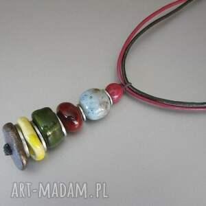 naszyjnik arabski ii - ceramika, handmade, delikatny, oryginalny, kolorowy