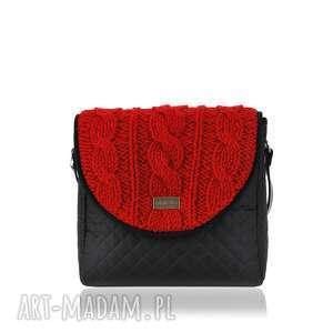 TOREBKA PURO 1403 RED SWEATER , torebka, torebkadamska, polskamarka, sweter, czerwona