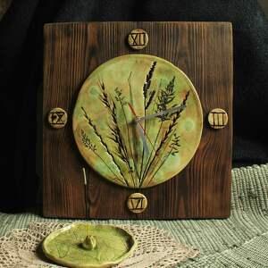 ręcznie zrobione zegary zegar trawy