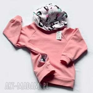 KOTY różowa bluza z kapturem dla dziewczynki, bawełniana bluza, rozmiary 92, 98, 104