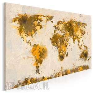 obraz na płótnie - mapa kontynenty - 120x80 cm (06302)
