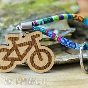 handmade breloki brelok do kluczy boho rower z drewna dąb azteq