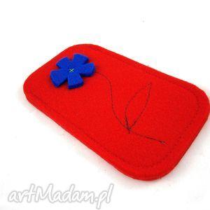 etui red in blue, filc, kwiatek