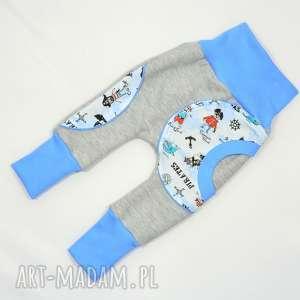 PIRACI legginsy, spodnie, baggy, pumpy dla chłopca, bawełniane, 62-104, dwurozmiarowe