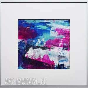 różowa łódź podwodna, kolorowy obraz, abstrakcyjny malowany ręcznie