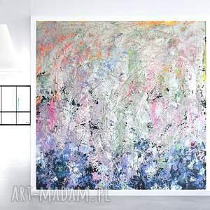 obraz akrylowy ręcznie malowany 100x100, duży obraz, sztuka nowoczesna