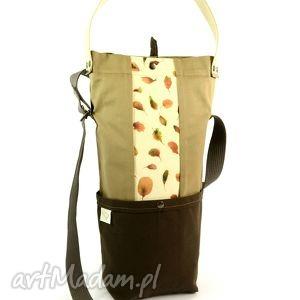 torba na ramię chocolate, boho, hippie, retro, kwiaty, drelich, nadruk