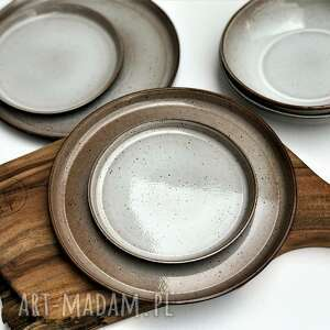 zestaw dla dwojga talerze plus miseczki, ceramika, talerz, miseczka, talerzyk