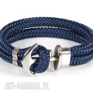hand-made męska bransoletka lina żeglarska kotwica