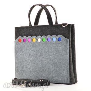 promocja - duża laptopówka z kropkami, promocja, laptop, torba, filc, kropki