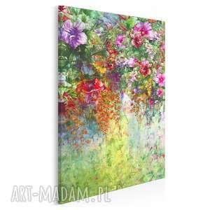 obraz na płótnie - ogród kwiaty natura w pionie 50x70 cm 78703